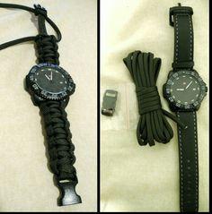 Paracord cobra style watchband #DIY #paracord