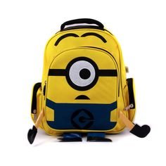 2014 Despicable Me children cartoon Minion child yellow bag backpack for kids children school bags for students 16'' schoolbag US $21.90