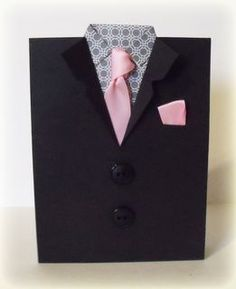 Dad's look pretty snazzy in suits. Here is a fun DIY Father's Day card that looks just as good as he does!