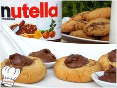 ΜΠΙΣΚΟΤΑ ΒΟΥΤΥΡΟΥ ΜΕ ΝΟΥΤΕΛΑ!!! Cake Bars, Cool Writing, Sausage, Biscuits, Caramel, Deserts, Sweets, Cookies, Breakfast