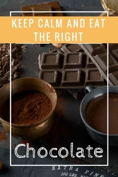 keep calm and eat the right chocolate Pizza And More, How To Make Pizza, I Want Chocolate, Broccoli Pizza, Keep Calm, Cocoa, Cravings, Eat, Healthy