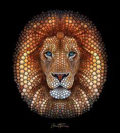 Lion - Digital Circlism by BenHeine on DeviantArt