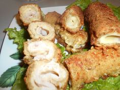 Zaxapn kai alati: Ρολάκια ζαμπόν -κασέρι με ψωμί του τοστ Posts, Meat, Chicken, Blog, Messages, Blogging, Cubs