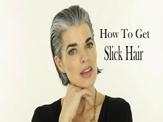 How to Slick Back a Short Bob Haircut | Gray Hair | Nikol Johnson - YouTube