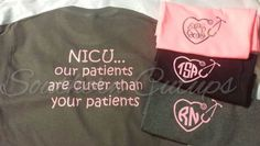 NICU Neonatal ICU Nurse T-shirt!  With Stethoscope monogram! For nurses, physcians, respiratory therapists! by SouthernCutups on Etsy https://www.etsy.com/listing/243533833/nicu-neonatal-icu-nurse-t-shirt-with