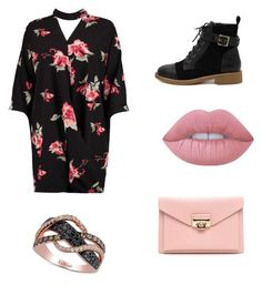 """Sew Pink"" by emmyann13 on Polyvore featuring Boohoo, WithChic, Lime Crime and LE VIAN"