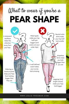 What to wear if you're PEAR shaped • Leslie Friedman Consulting: Fashion, Personal Branding, and Communication Resources Pear Shaped Dresses, Pear Shaped Outfits, Pear Body Shapes, Stylish Clothes, Trendy Clothes For Women, Feminine Fashion, Curvy Fashion, Fashion Advice, Fashion Outfits