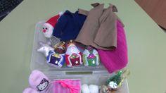caja sensorial del invierno, para trabajar vocabulario del invierno, la ropa que nos ponemos..