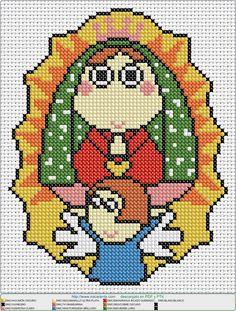 guadalupe angel EN PUNTO DE CRUZ, Cross stitch patterns