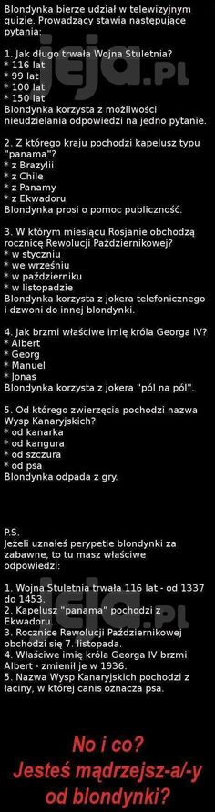 Czy jesteś mądrzejszy od blondynki? Funny Mems, Everything And Nothing, Wtf Funny, Man Humor, Funny Photos, Life Lessons, Texts, Jokes, Lol