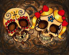 Dia de los Muertos Sugar Skulls by ShayneoftheDead