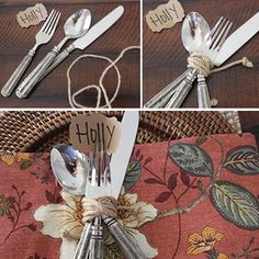 Easy Fall Place Setting Idea