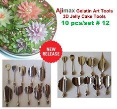 Gelatin Art Tools - 3d Jelly Cake Tools 10 Pcs/set #12 New Release.