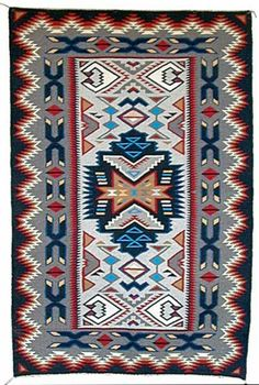 Navajo rug Native American Rugs, Native American Patterns, Native American Design, Native Design, Native American Artifacts, Navajo Weaving, Navajo Rugs, Woven Chair, Woven Rug
