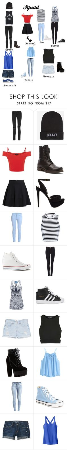 """Squad #2"" by jijikooky on Polyvore featuring rag & bone, Kill Brand, Frye, H&M, ALDO, Current/Elliott, Glamorous, Converse, Vero Moda and adidas Originals"