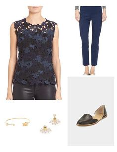 Navy is one of the three neutrals that looks good on almost any complexion. As monochrome dressing continues to grow in popularity, find a way of incorporating that in your closet by mixing pieces with textural details. Keep the silhouette clean and streamlined; add on light layers if needed.