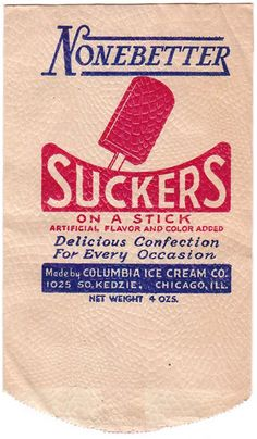Vintage 1940 Newly Weds Ice Cream Bar Wrapper New old stock Chicago