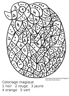 maternelle coloriage magique color by number for and