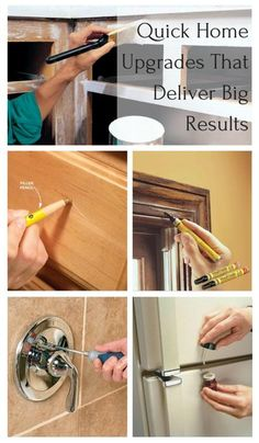 Quick Home Upgrades That Deliver Big Results: Simple kitchen and bath improvements that will make your life easier. http://www.familyhandyman.com/smart-homeowner/diy-home-improvement/quick-home-upgrades-that-deliver-big-results