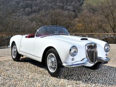 1955 Lancia Aurelia - B24S Spider America.  A Pininfarina design. The car was introduced in 1954 in Brussels.