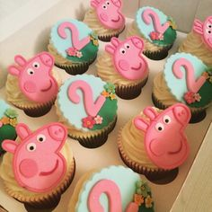 Peppa Pig Cup Cakes Girls 2nd Birthday. By CORALICIOUS CAKES.