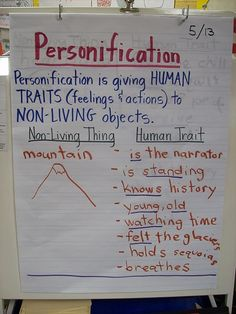 Personification lesson using Sierra as the mentor text.