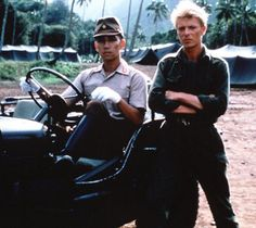 Young Ryuichi Sakamoto and David in film of Merry Christmas Mr. Lawrence