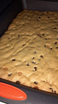 cup milk and mix. Stir in cup choc chips; Spread in greased Bake at 350 for 30 minutes. Delicious Cake Recipes, Cake Mix Recipes, Brownie Recipes, Yummy Cakes, Dessert Recipes, Yummy Food, Cookie Desserts, Easy Desserts, Sweet Mixed Drinks