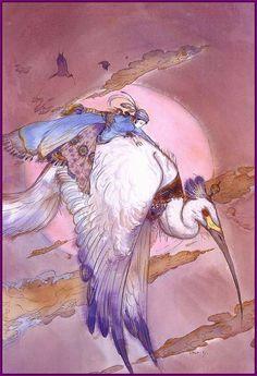 Cover by Yoshitaka Amano to 'Blue Bird. Arabian Nights #5'