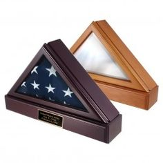 Officers Flag Display Case AND Pedestal for 3ft x 5ft Flag