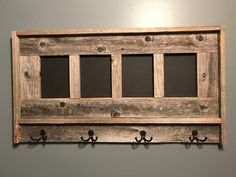 Reclaimed Wood Picture Frames, Pallet Picture Frames, Picture Frame Display, Rustic Frames, Picture On Wood, Country Picture Frames, Pallet Frames, Rustic Art, Barn Wood Crafts