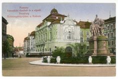 Bratislava-  historical view,  the statue of Maria Theresia