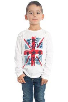 Viste a tus hijos con estilo, vistelos con tendencia. Camiseta Pepe Jeans Dan Kids Blanca #tommyhilfiger #moda #niño