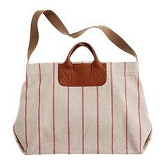 striped caravan mailbag | madewell