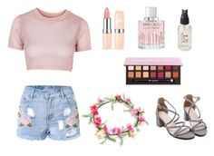 """Summer Heat"" by rachelsdescription on Polyvore featuring Topshop, Jimmy Choo, Olivine and Anastasia Beverly Hills"