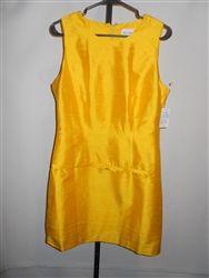 A.S.A.P.Cocktail Dress - Yellow Silk - Size 10/12