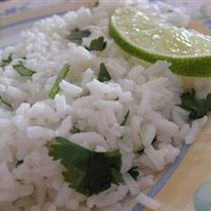 Lime-Cilantro Rice - Steve is making this all the time right now, and it& delicious!