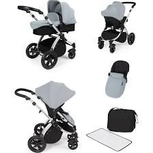 ickle bubba Stomp V2 Silver All-in-One Travel System (Silver)