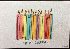 Birthday Card Drawing Watercolor Birthday Cards Watercolor Christmas Cards Watercolor Postcard Pen And Watercolor Watercolor Paintings Birthday Postcards Homemade Birthday Cards Tombow Watercolor Birthday Cards, Birthday Card Drawing, Watercolor Postcard, Watercolor Cards, Easy Watercolor, Watercolor Tattoos, Bday Cards, Happy Birthday Cards, Free Birthday