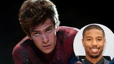 Andrew Garfield Suggests Michael B. Jordan as Spiderman's Boyfriend. (Photo Courtesy of Columbia/Inset/Getty)
