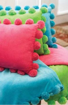 fun pom pom pillows