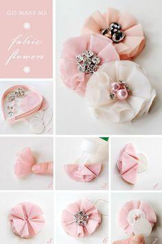 diy rustic fabric flowers - Google Search