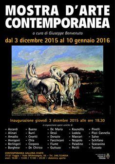 #Mostra d'Arte Contemporanea, a cura di Giuseppe Benvenuto, dal 3 dicembre 2015 al 10 gennaio 2016 a #Foggia. Inaugurazione il 03 dicembre alle 18.30 in Viale Michelangelo, 65.