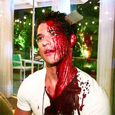 Tyler Posey behind the scenes of MTV's new 'Scream' promo gif