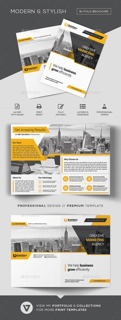 BiFold Brochure Template #creative #2 fold  • Download here → https://graphicriver.net/item/bifold-brochure-template/21055118?ref=pxcr