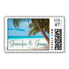 Palm Trees Beach Destination Wedding Postage Stamp SOLD on Zazzle Destination Wedding Invitations, Wedding Invitation Sets, Custom Wedding Invitations, Destination Weddings, Invites, Custom Postage Stamps, Wedding Postage Stamps, Wedding Stamps, Nautical Wedding Stationery