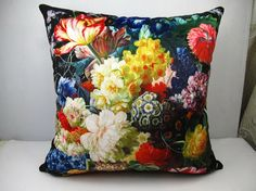 Elegant high quality velvet fabric cushion by WhooplaArt on Etsy