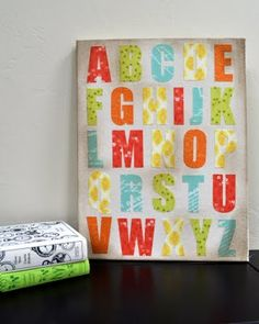 Cutting fabric letters