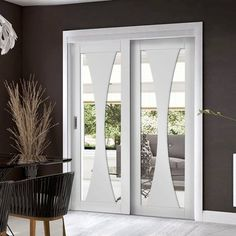New and Beautiful Easi-Slide OP3 White Verona Sliding Door System in Three Size Widths with Clear Glass #amazingdoors 'whitedoors