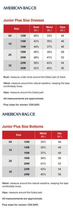 Jones new york collection plus size chart via macys for Alfani mens shirt size chart